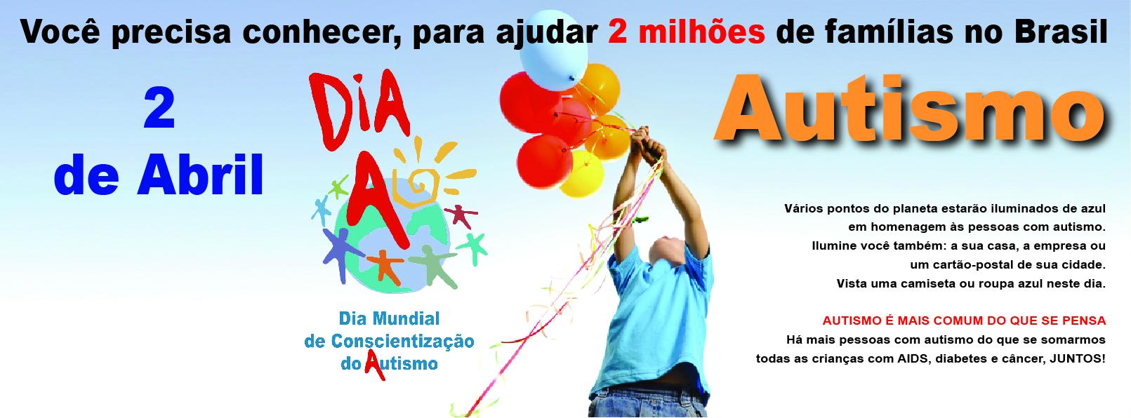 Campanha para o Dia Mundial do Autismo 2013 será lançada no teatro do Hotel Bourbon Atibaia