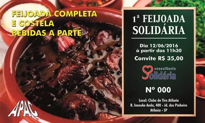 Convite da 1ª Feijoada Solidária
