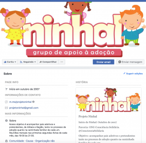Página do Ninhal no Facebook