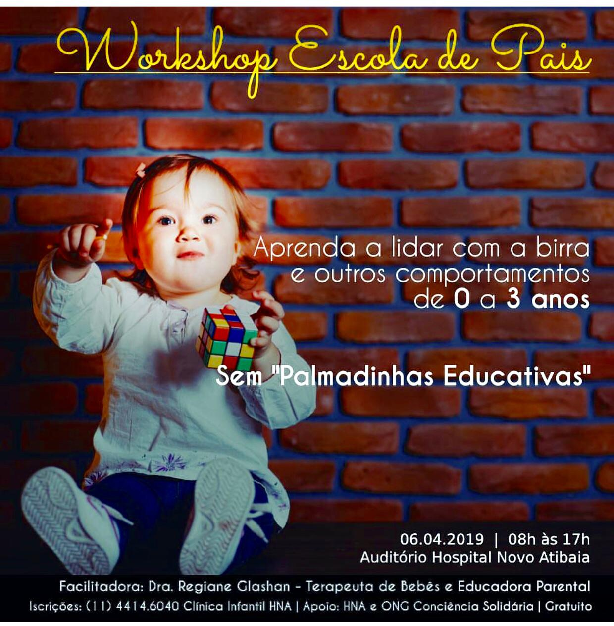 Workshop Escola de Pais será 6/abril
