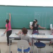 Alunas professoras em aula de espanhol no Caeté